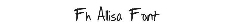 Fh Allisa Font Preview