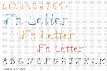Fh Letter Font