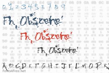Fh Obscene Font