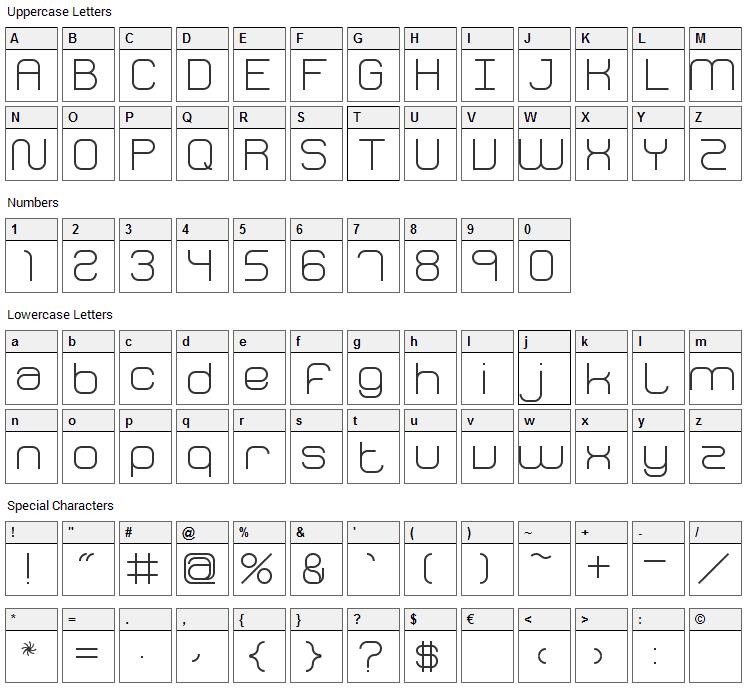 Fh Perception Font Character Map