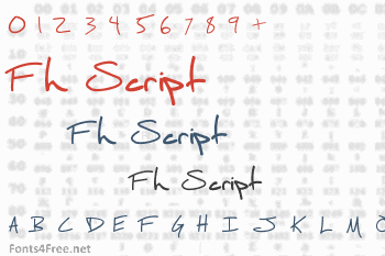 Fh Script Font