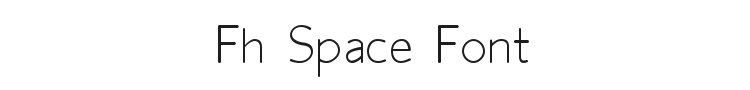 Fh Space Font Preview