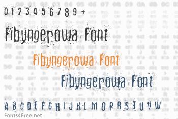 Fibyngerowa Font
