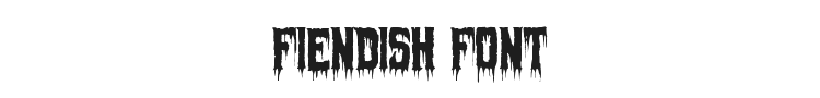 Fiendish Font Preview
