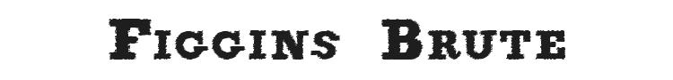 Figgins Brute Trash Font Preview