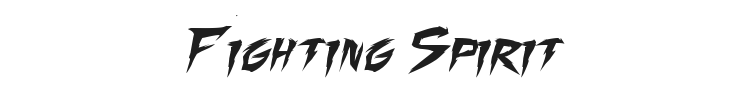 Fighting Spirit Font Preview