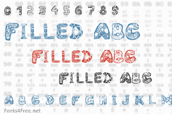Filled ABC Font