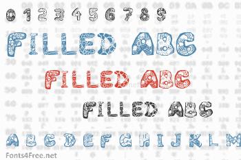 Filled ABC Font