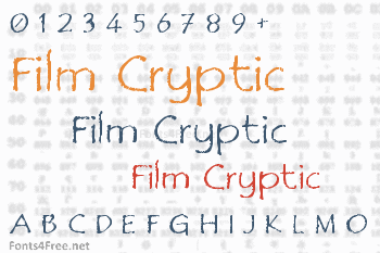 Film Cryptic Font