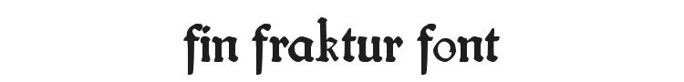 Fin Fraktur Font Preview