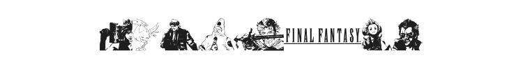 Final Fantasy Elements Font Preview