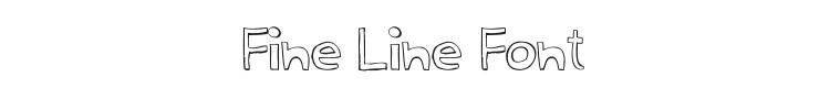 Fine Line Font Preview