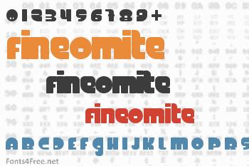 FineOMite Font