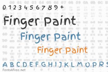 Finger Paint Font