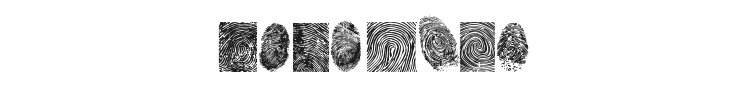 Finger Print Font Preview