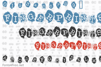 Fingerprints Inside Font