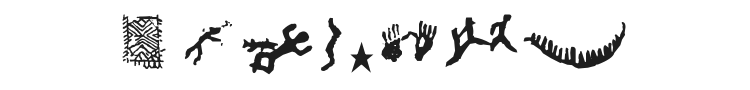 Finnish Rock Paintings Font Preview