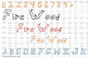 Fire Wood Font