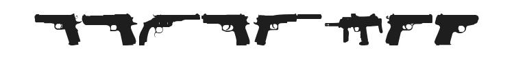 Fireguns Font Preview