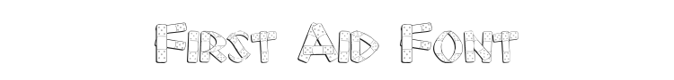 First Aid Font Preview