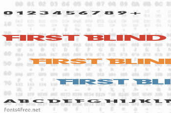 First Blind Font