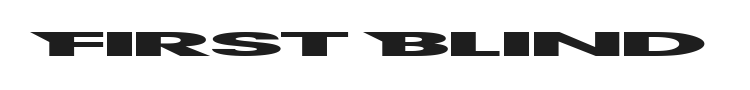 First Blind Font