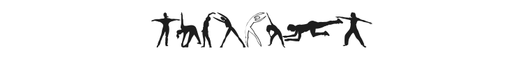 Fitness Silhouettes Font Preview