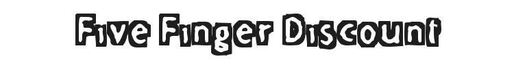 Five Finger Discount Font Preview