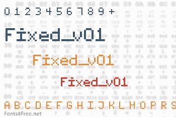 Fixed_v01 Font