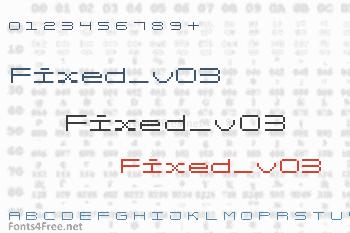 Fixed_v03 Font