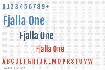 Fjalla One Font