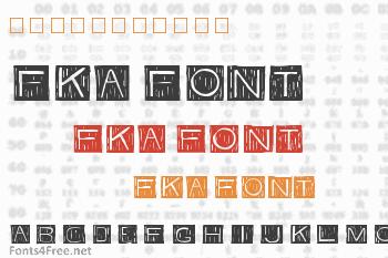 FKA Font