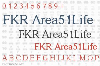 FKR Area51Life Font