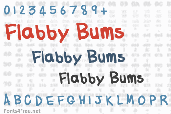 Flabby Bums Handwriting Font