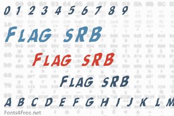 Flag sRB Font