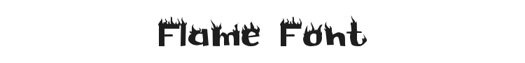 Flame Font