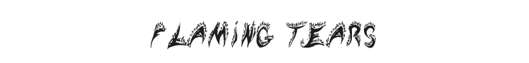Flaming Tears Font Preview