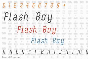 Flash Boy Font