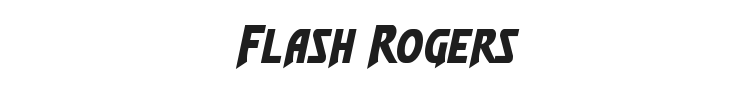 Flash Rogers Font Preview