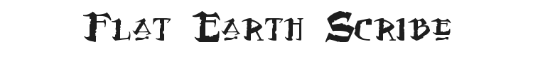 Flat Earth Scribe Font Preview