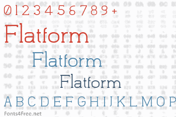 Flatform Font