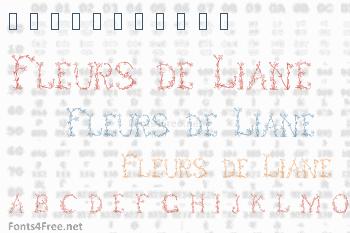 Fleurs de Liane Font