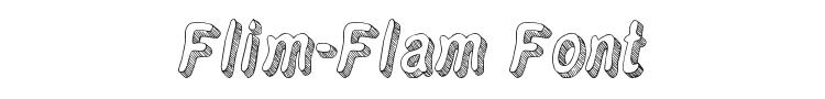 Flim-Flam Font Preview