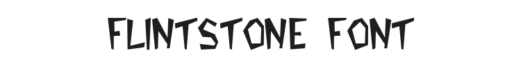 Flintstone Font Preview
