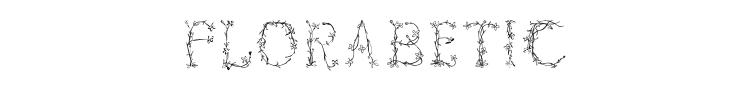 Florabetic Font Preview