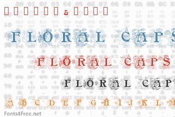 Floral Caps Nouveau Font