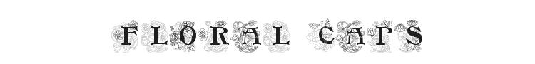 Floral Caps Nouveau Font Preview