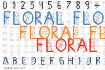 Floral Flower Font