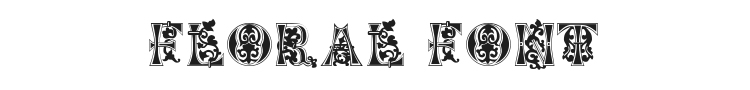 Floral Majuscules Font