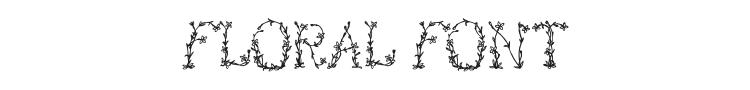 Floral Font Preview